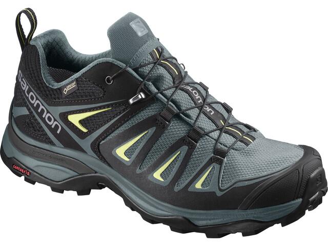Salomon X Ultra 3 GTX Chaussures de randonnée Femme, artic/darkest spruce/sunny lime